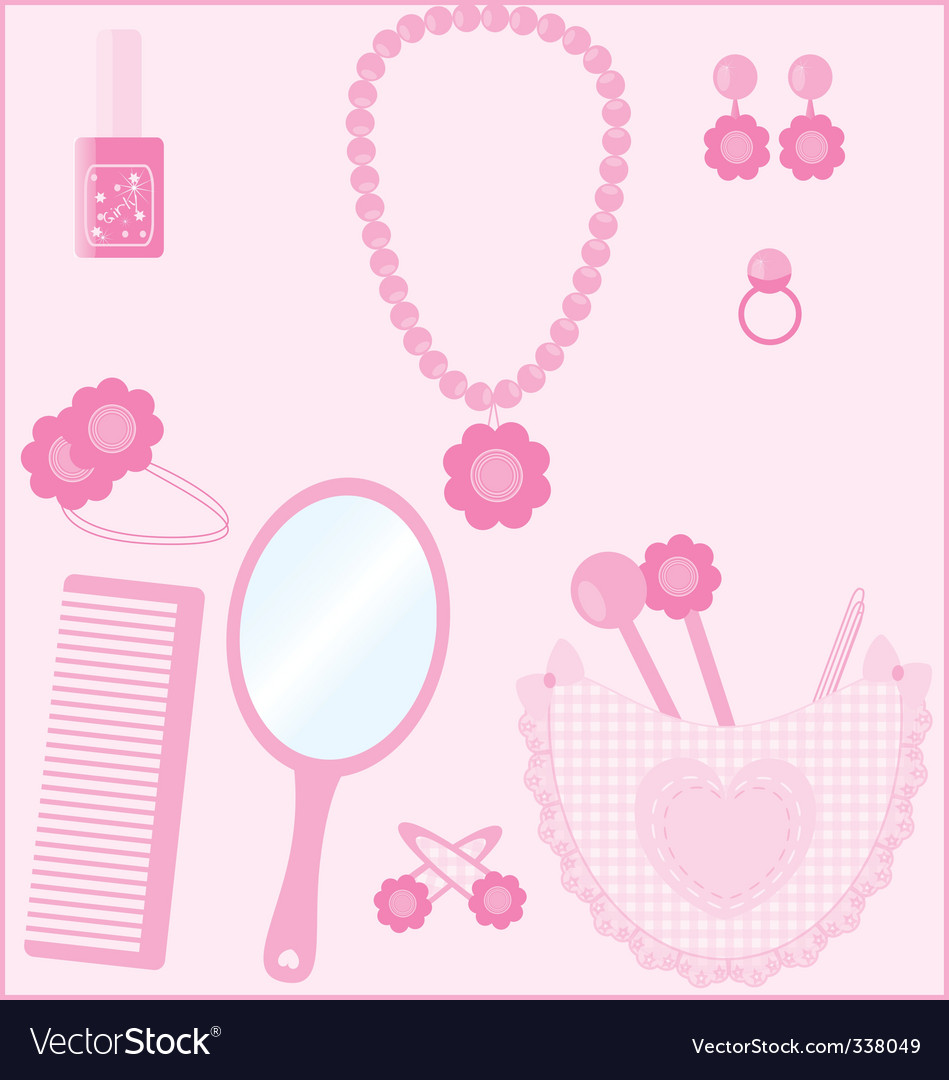Girl stuff vector | Price: 1 Credit (USD $1)