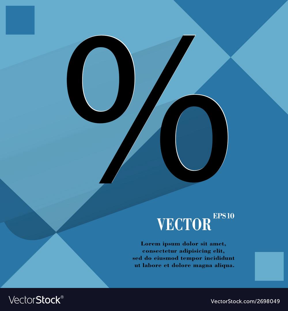 Percent flat modern web design on a flat geometric vector | Price: 1 Credit (USD $1)