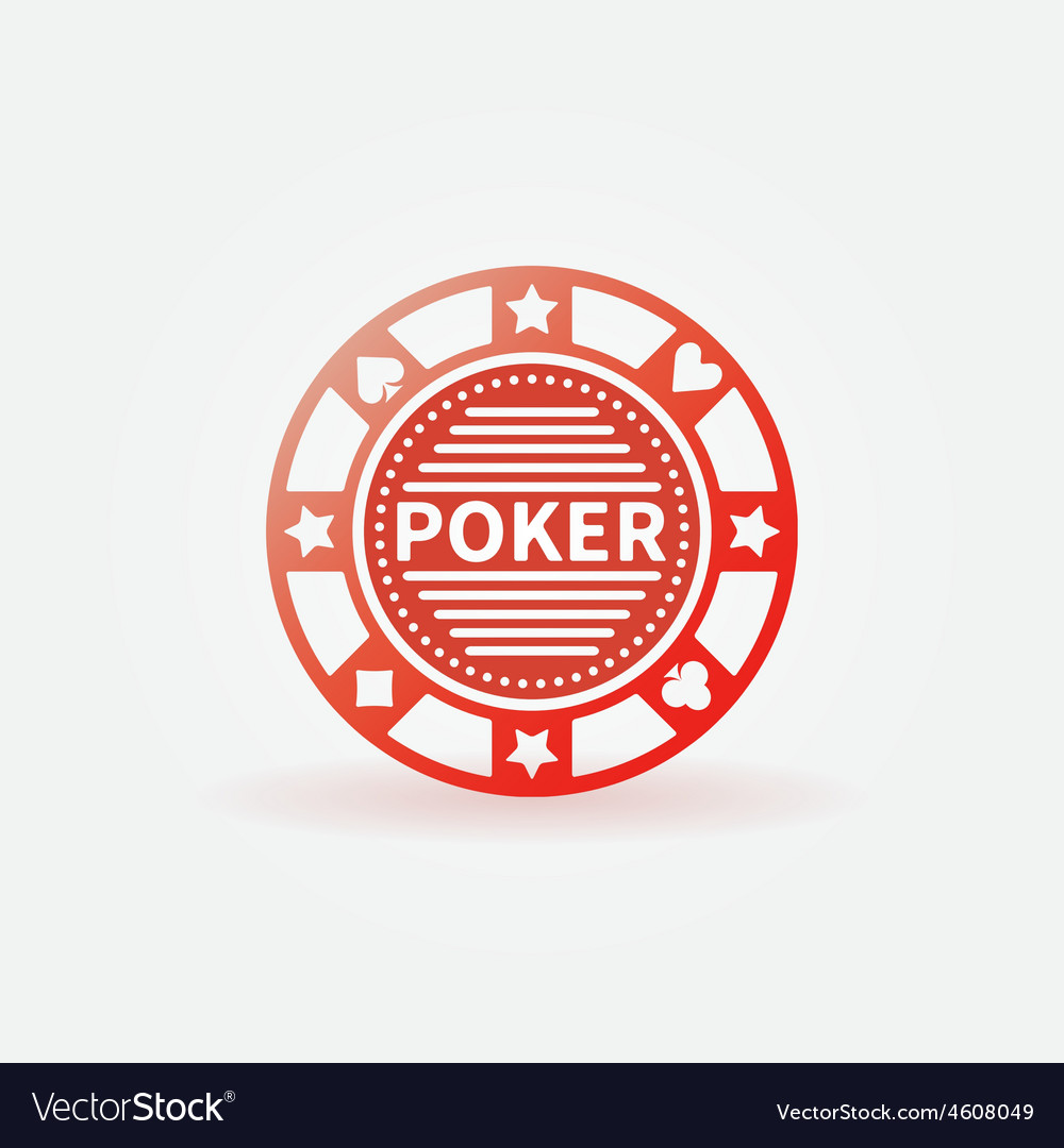 Poker chip red icon vector | Price: 1 Credit (USD $1)