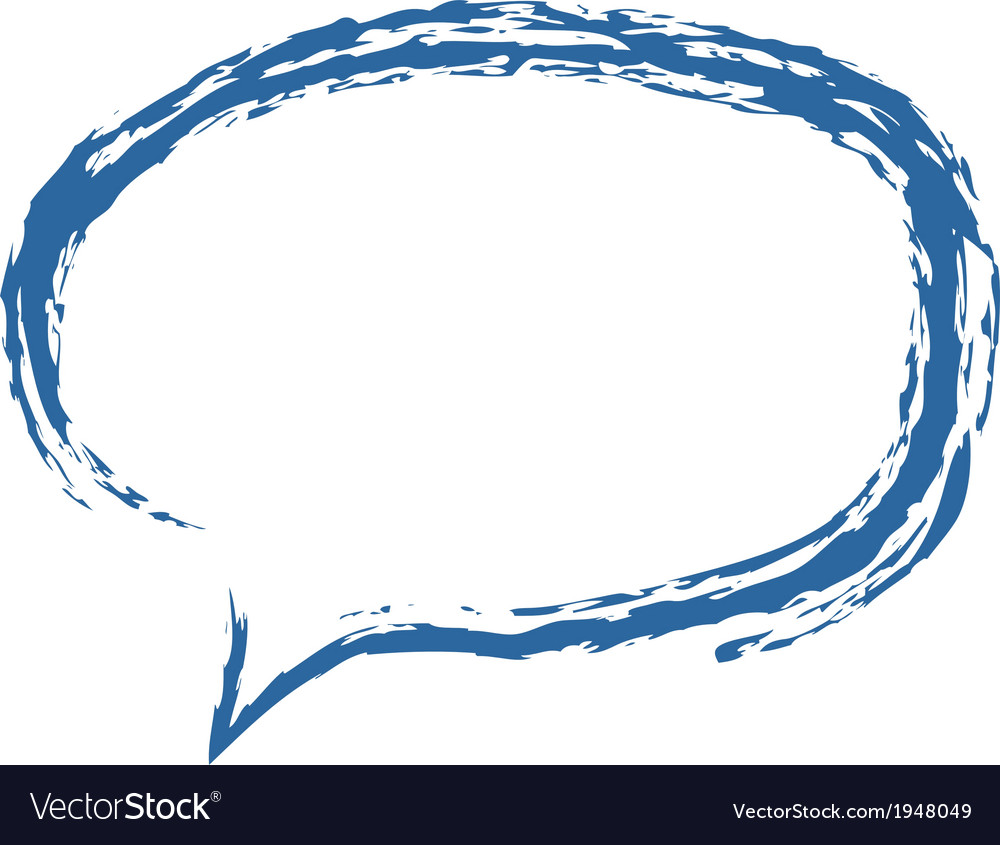 Speech bubble brushed vector | Price: 1 Credit (USD $1)