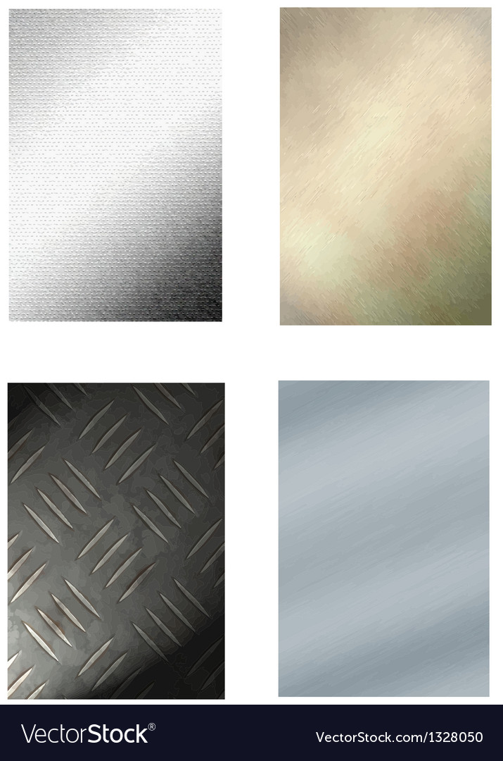 4 metal backgrounds vector | Price: 1 Credit (USD $1)