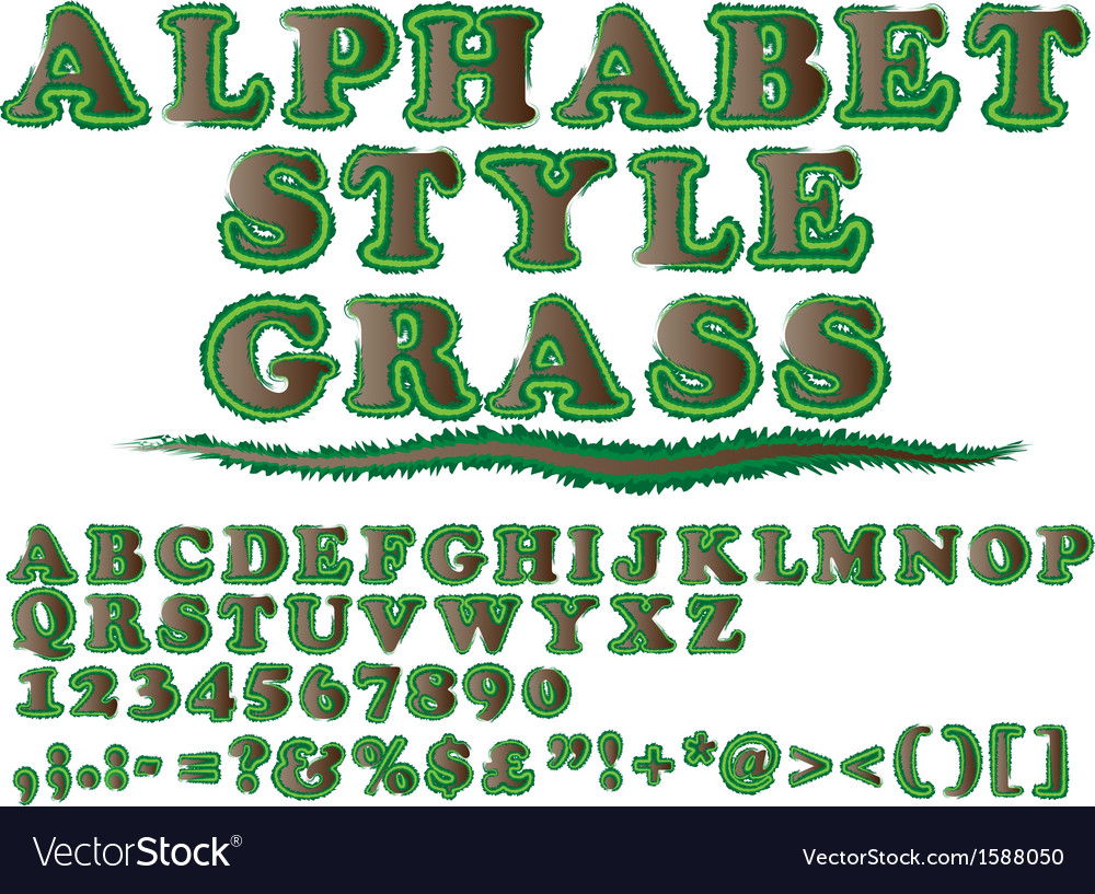 Alphabet style grass 2 vector | Price: 1 Credit (USD $1)