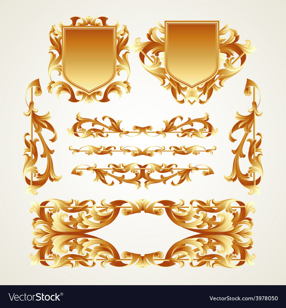 Antiquated ornate patterns vector | Price: 3 Credit (USD $3)