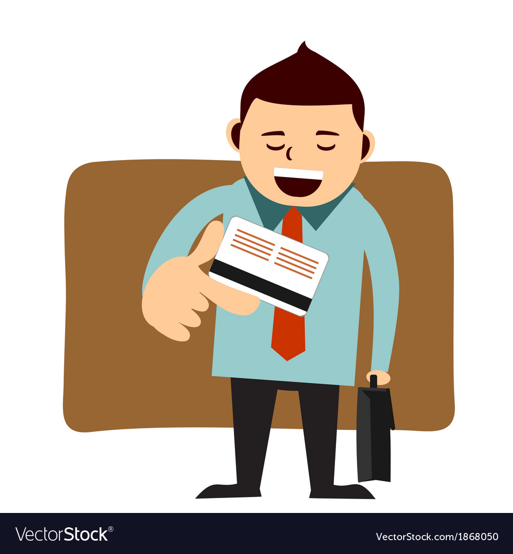 Businessman paying with his credit card vector | Price: 1 Credit (USD $1)