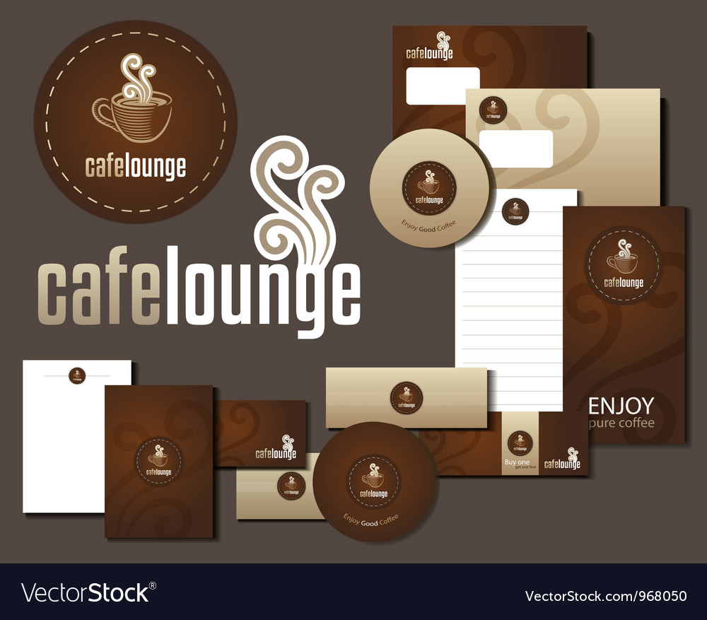 Cafe lounge corporate design vector | Price: 1 Credit (USD $1)