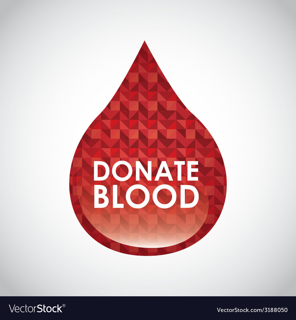 Donate blood design vector | Price: 1 Credit (USD $1)