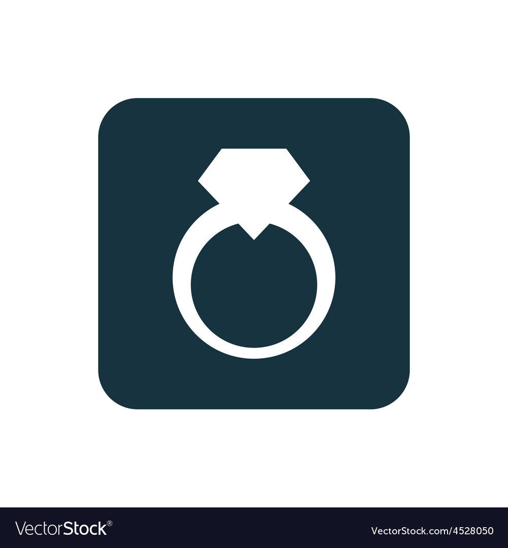 Jewelery ring icon rounded squares button vector | Price: 1 Credit (USD $1)