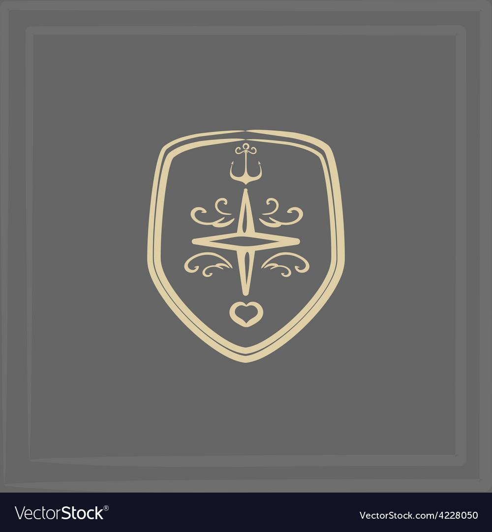 Marine emblem vector   Price: 1 Credit (USD $1)