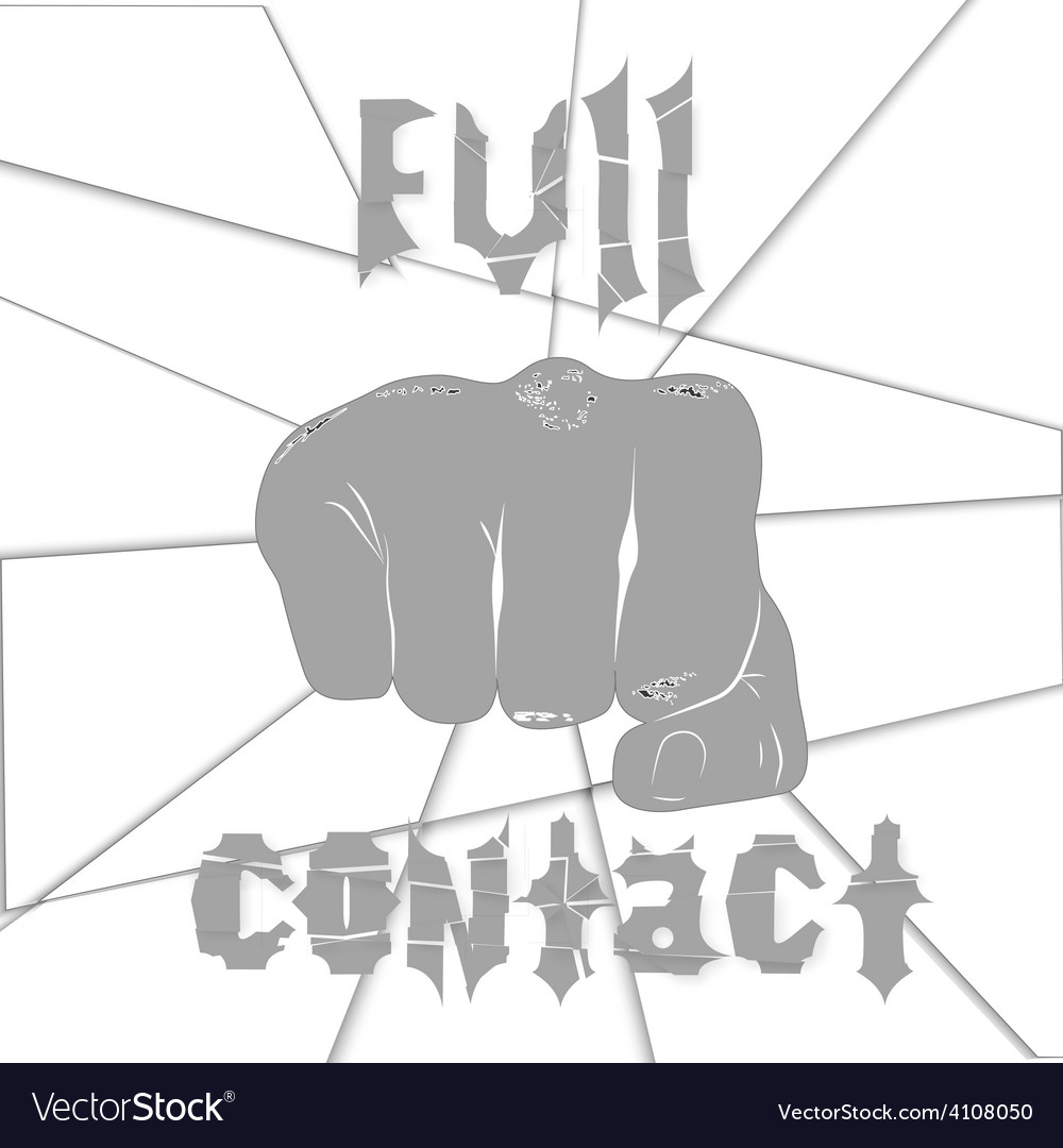 Martial arts full contact vector | Price: 1 Credit (USD $1)
