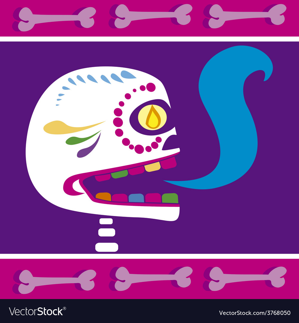 Mexican skull 2 vector | Price: 1 Credit (USD $1)
