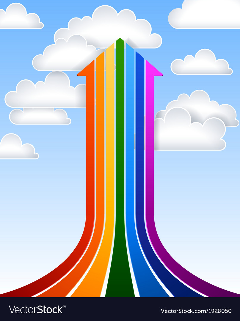 Rainbow arrow vector | Price: 1 Credit (USD $1)