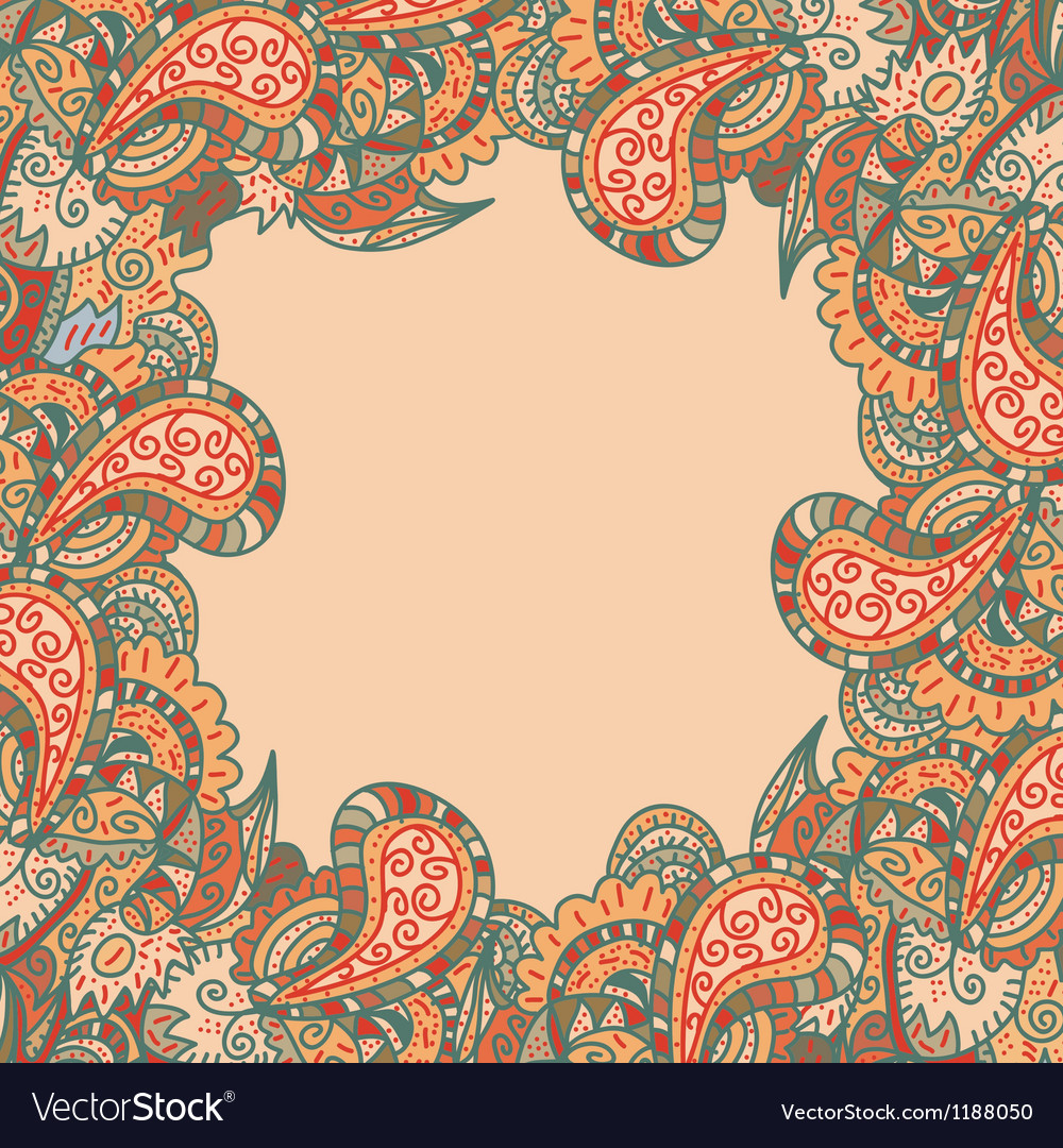 Retro decorative original frame vector | Price: 1 Credit (USD $1)