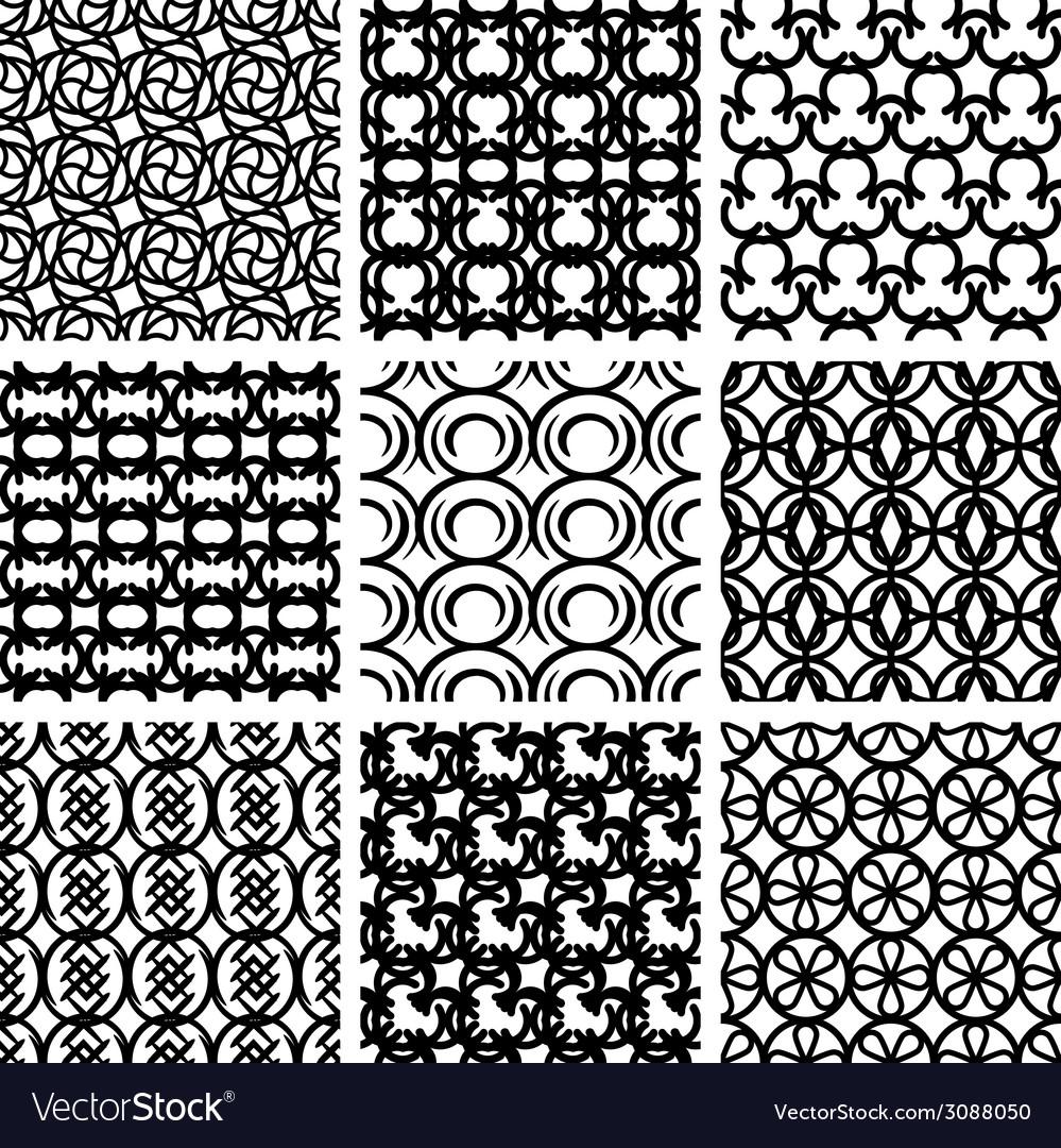 Seamless geometric patterns set vector   Price: 1 Credit (USD $1)