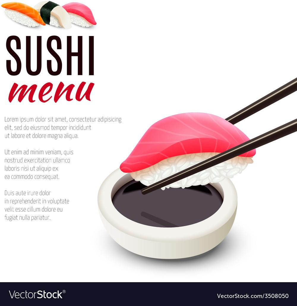 Sushi menu background vector   Price: 1 Credit (USD $1)