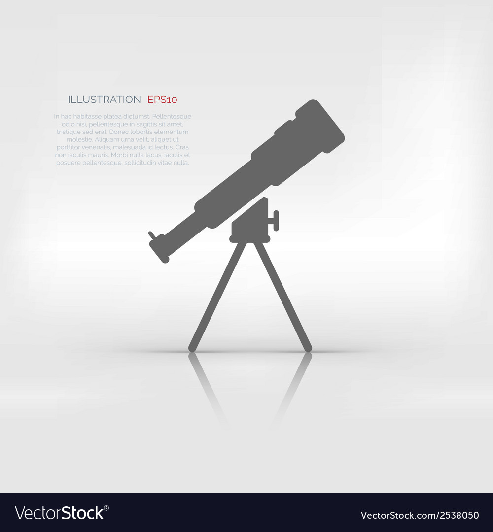 Telescope icon vector | Price: 1 Credit (USD $1)