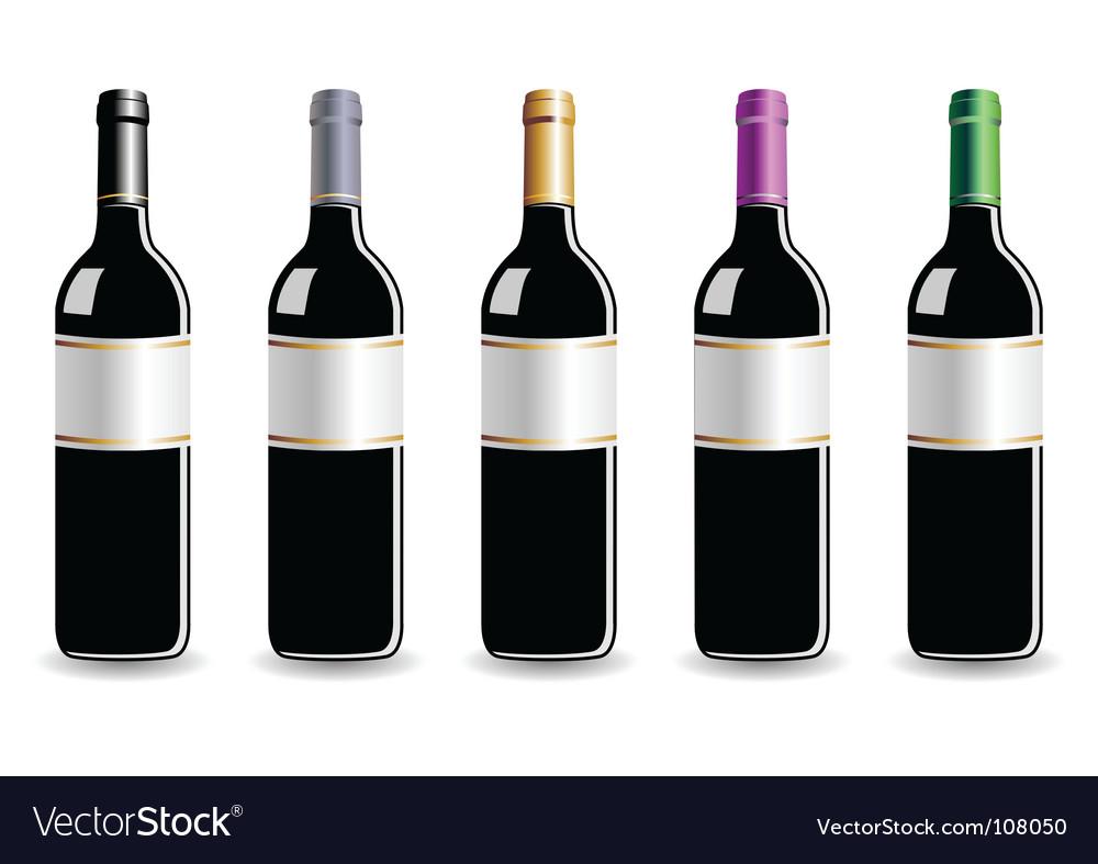 Wine bottles vector | Price: 1 Credit (USD $1)