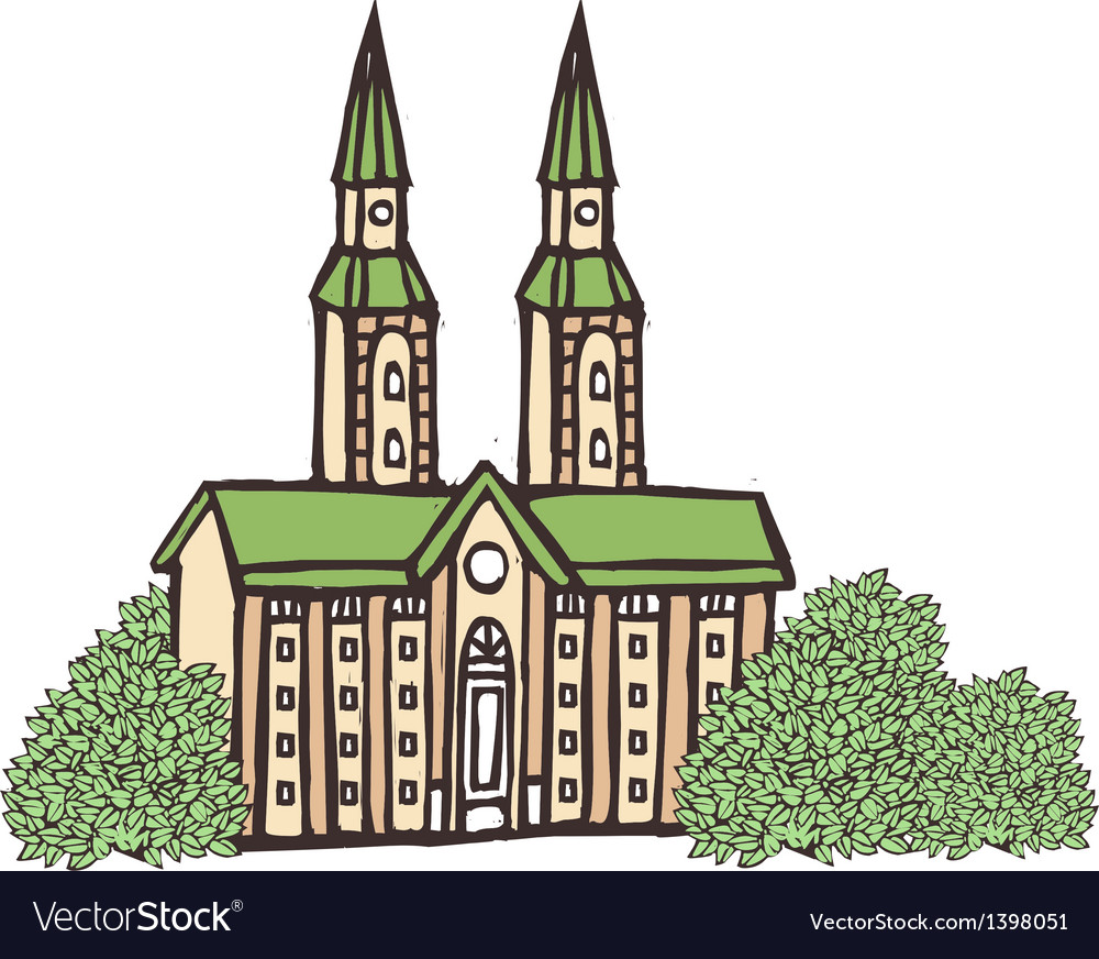 A view of cathedral vector | Price: 1 Credit (USD $1)