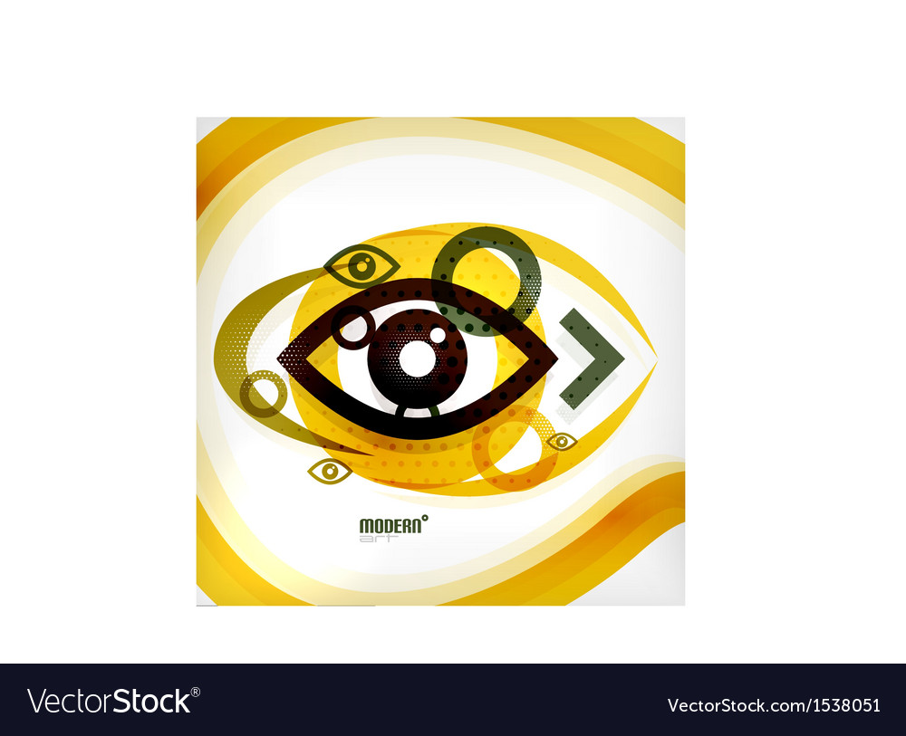 Abstract eye modern concept vector | Price: 1 Credit (USD $1)