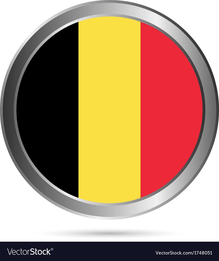 Belgium flag button vector | Price: 1 Credit (USD $1)