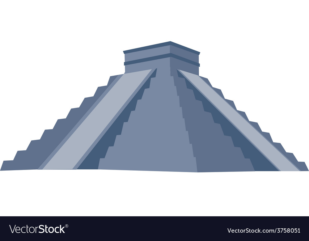 Chichen itza grey vector | Price: 1 Credit (USD $1)
