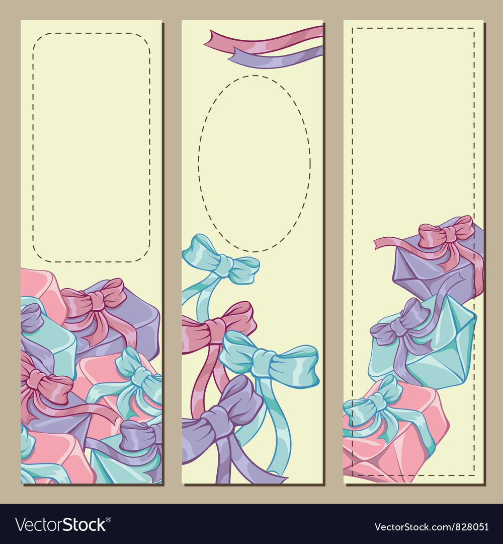 Colorfull gift box banners vector   Price: 1 Credit (USD $1)