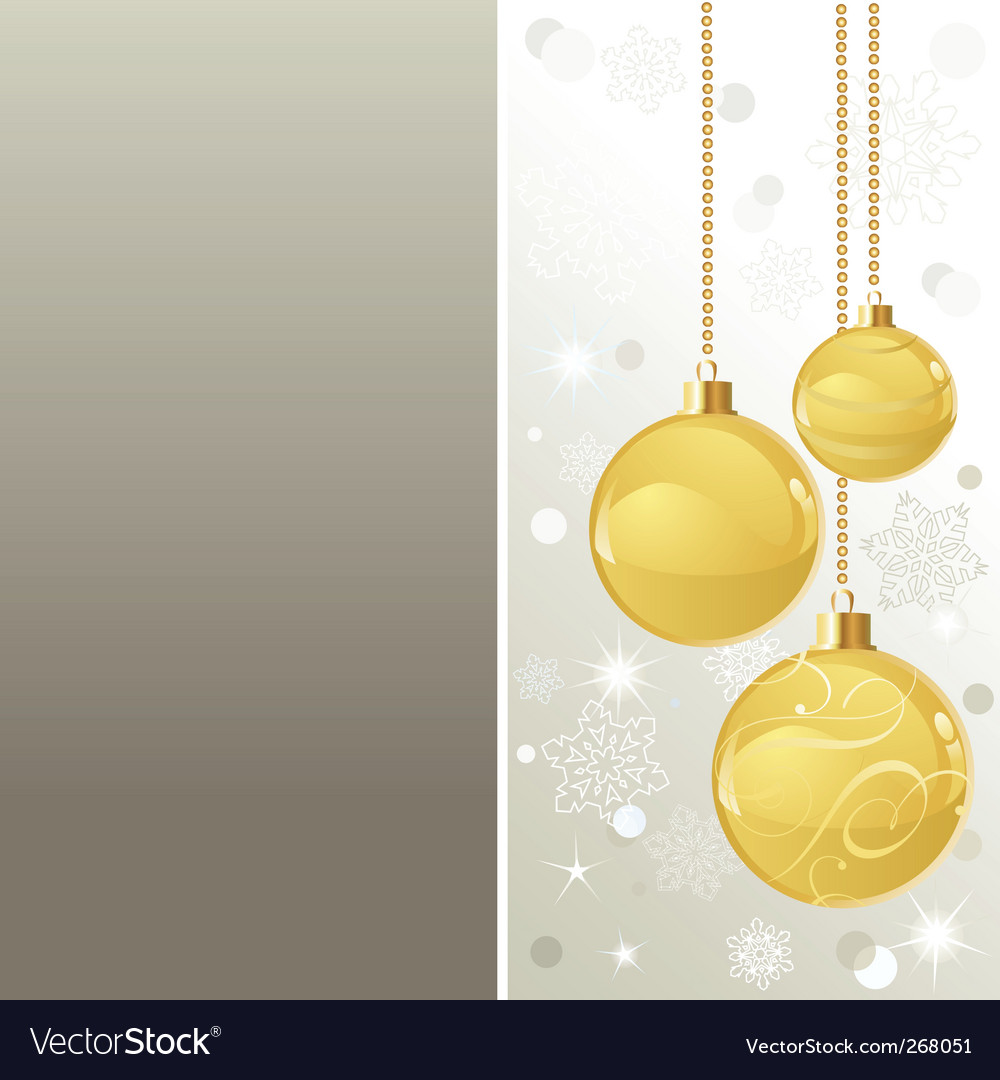 Elegant christmas background with baubles vector | Price: 1 Credit (USD $1)