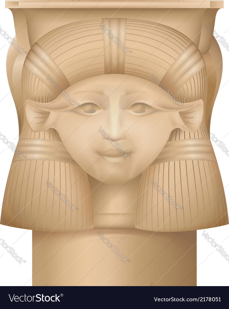 Hathor column  ancient egypt capital vector | Price: 1 Credit (USD $1)