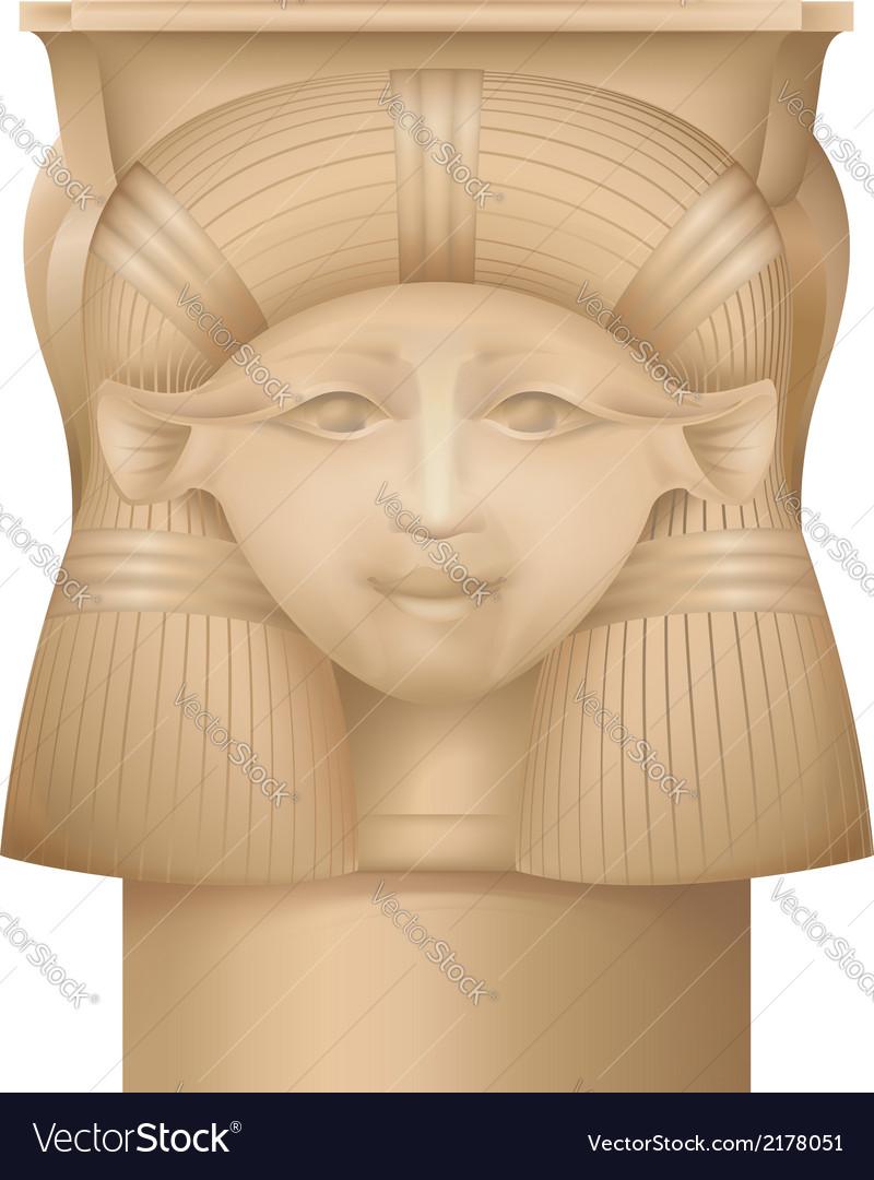 Hathor column  ancient egypt capital vector | Price: 1 Credit (USD $1)