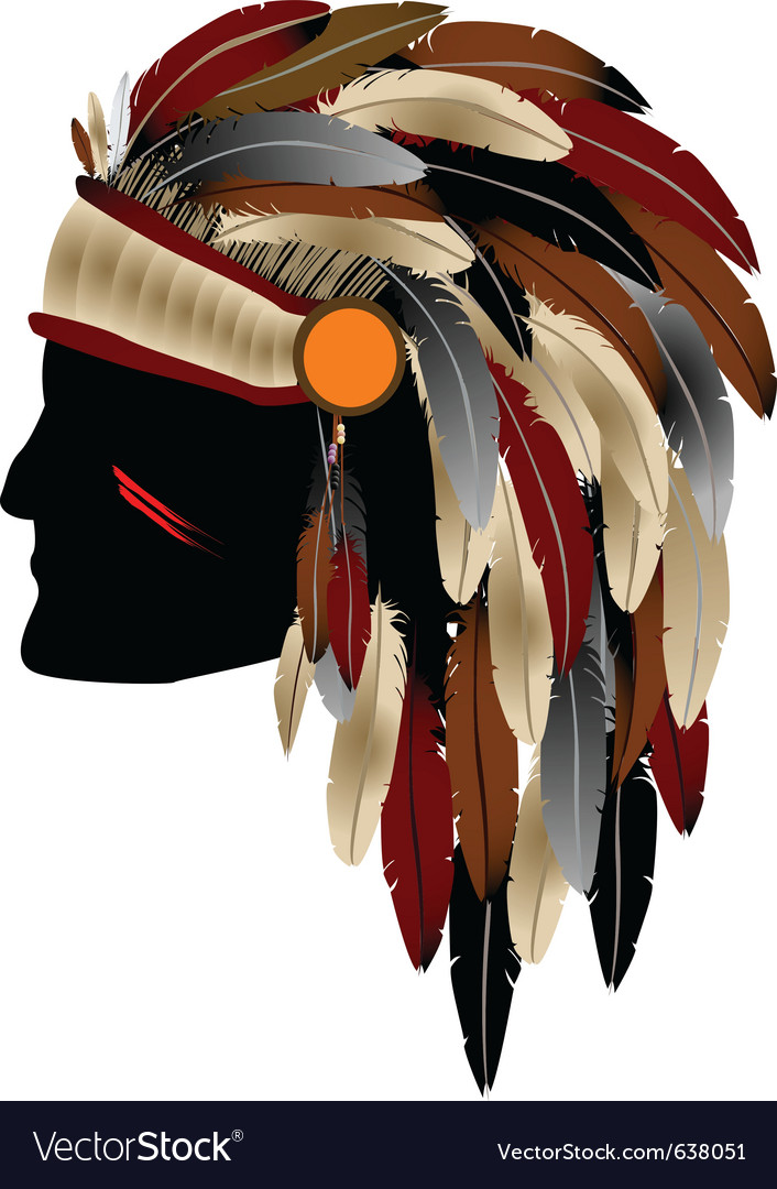 Native american indian vector | Price: 1 Credit (USD $1)