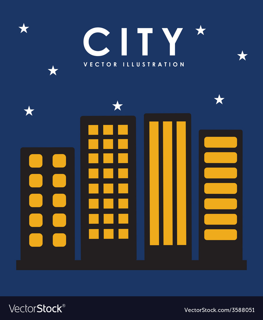Night in the city vector   Price: 1 Credit (USD $1)
