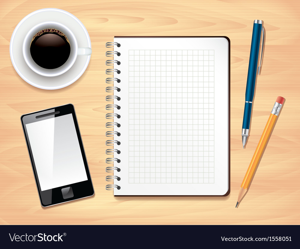 Office desk notes background vector | Price: 3 Credit (USD $3)