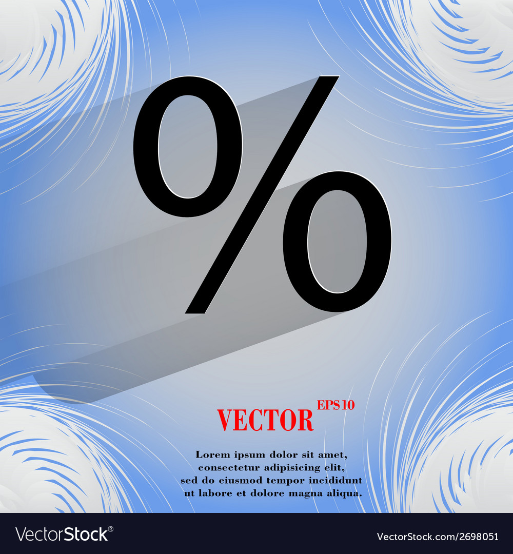 Percent flat modern web design on a flat geometric vector | Price: 1 Credit (USD $1)