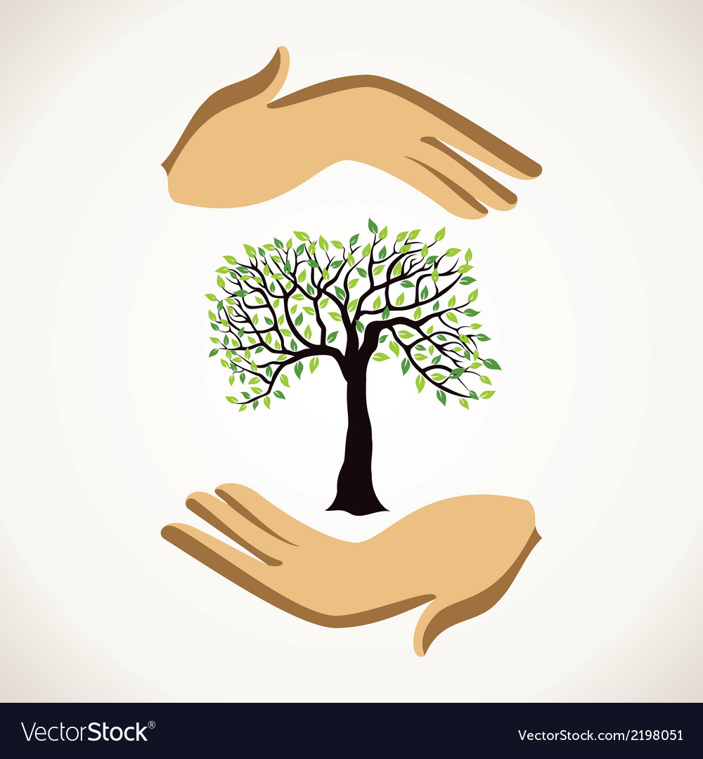 Save tree concept vector | Price: 1 Credit (USD $1)