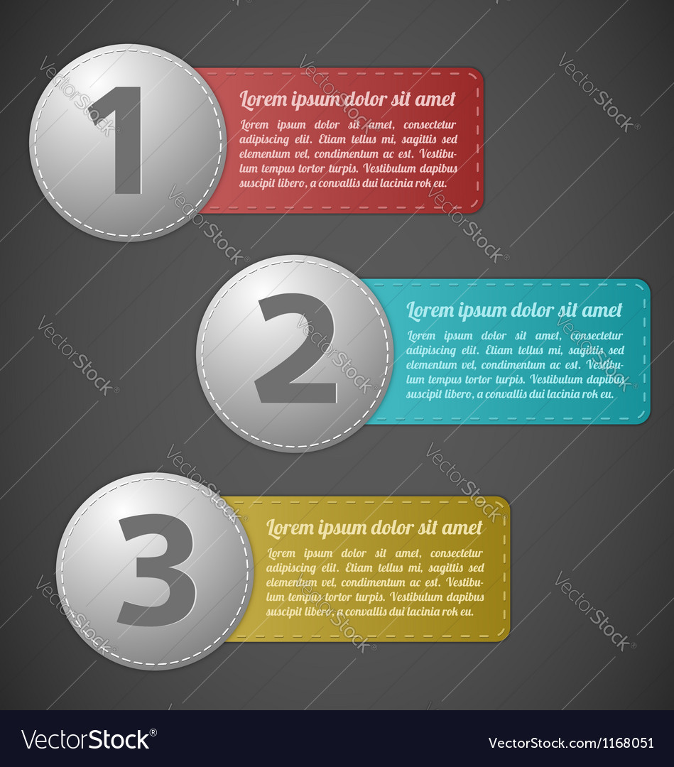 Stitched labels with text field vector   Price: 1 Credit (USD $1)