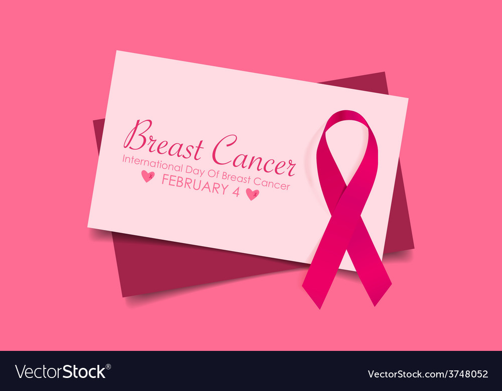 Breast cancer awareness cards design vector | Price: 1 Credit (USD $1)