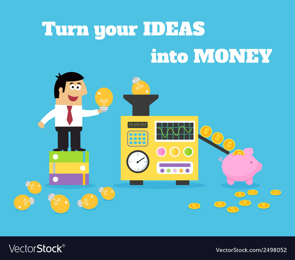 Business life ideas money converter vector | Price: 1 Credit (USD $1)