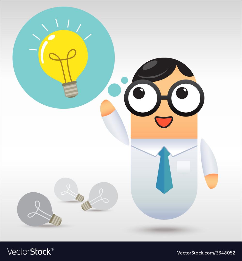 Businessman get idea vector   Price: 1 Credit (USD $1)