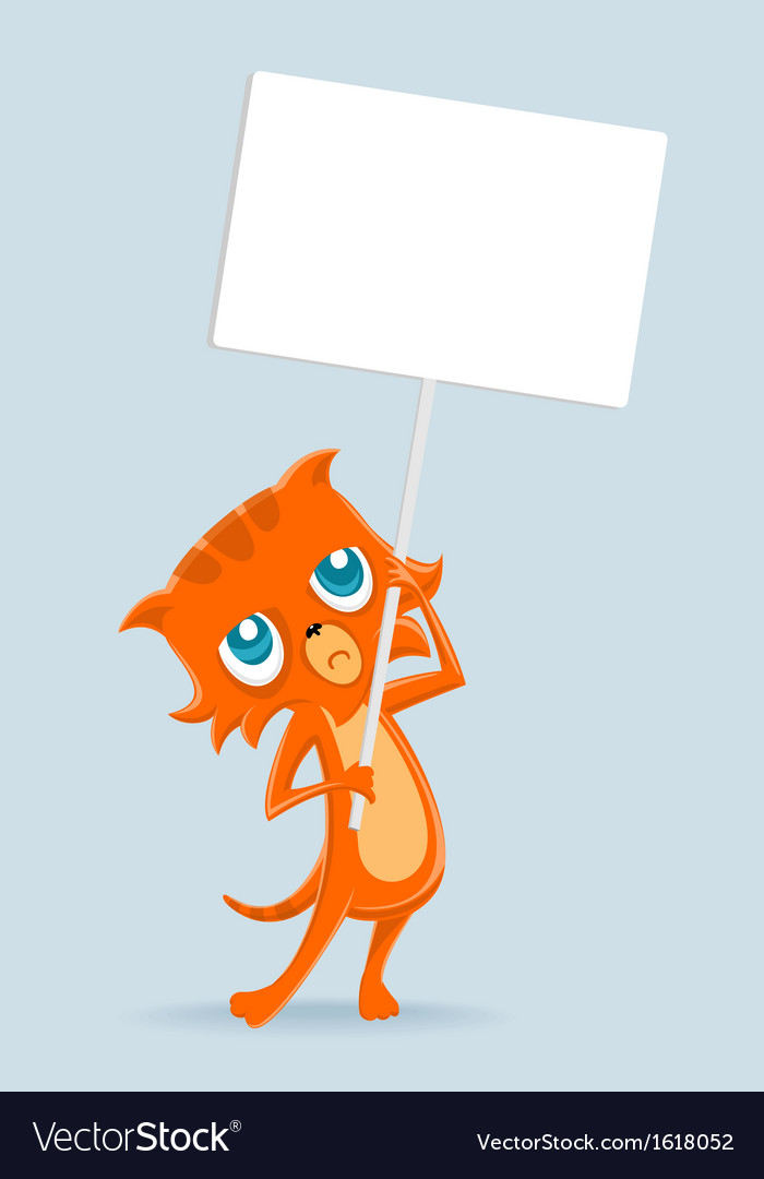 Cat at the rally vector | Price: 1 Credit (USD $1)