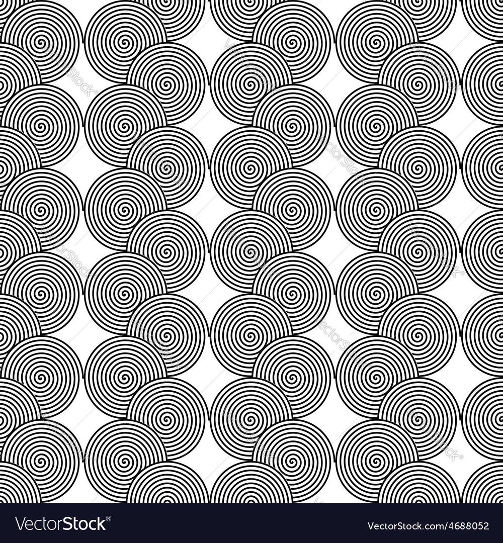 Design seamless monochrome spiral twirl pattern vector | Price: 1 Credit (USD $1)