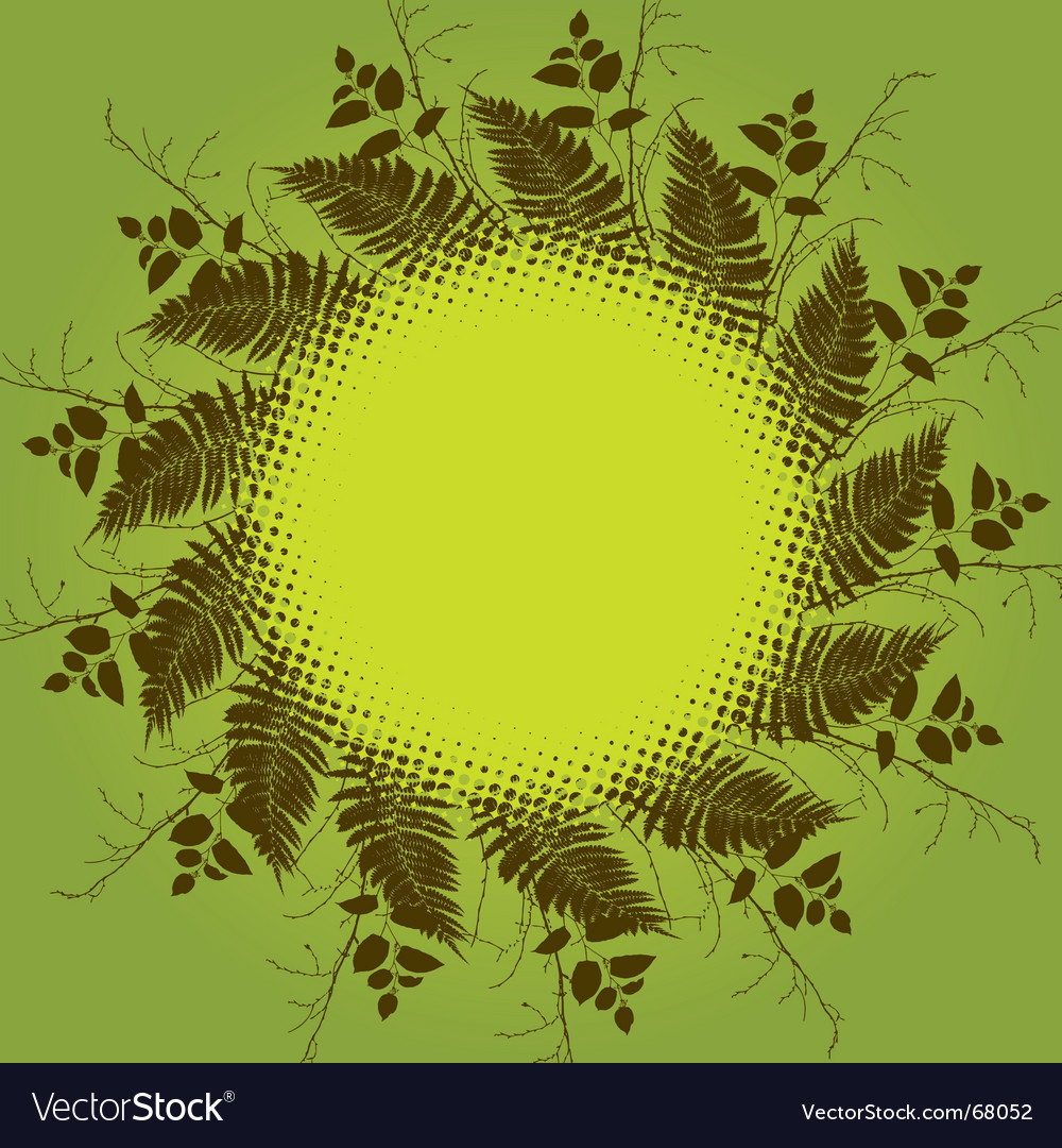 Floral circle background vector   Price: 1 Credit (USD $1)