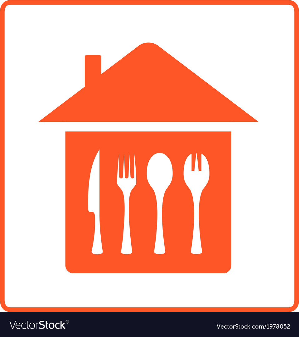 House with kitchen table cutlery vector | Price: 1 Credit (USD $1)