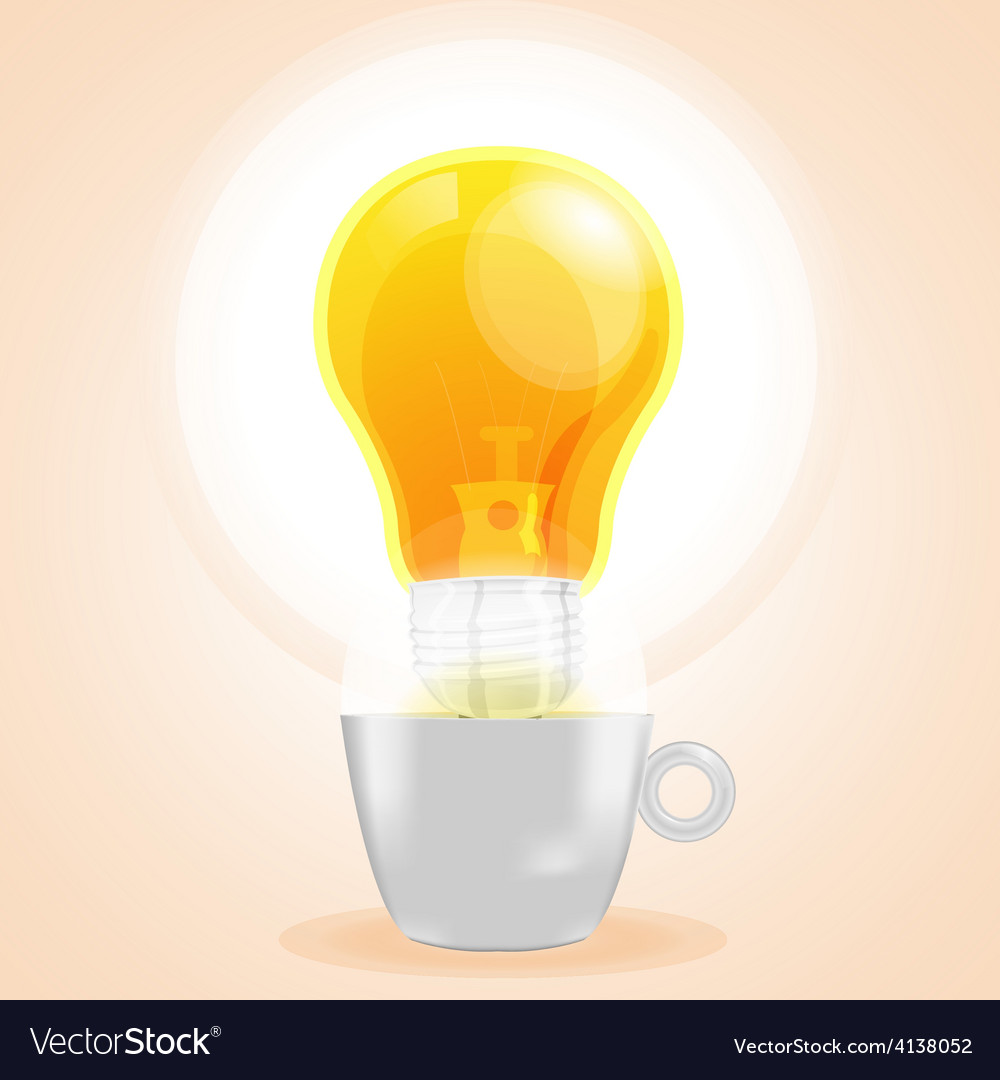 Lamp cup idea fresh business coffee vector | Price: 3 Credit (USD $3)