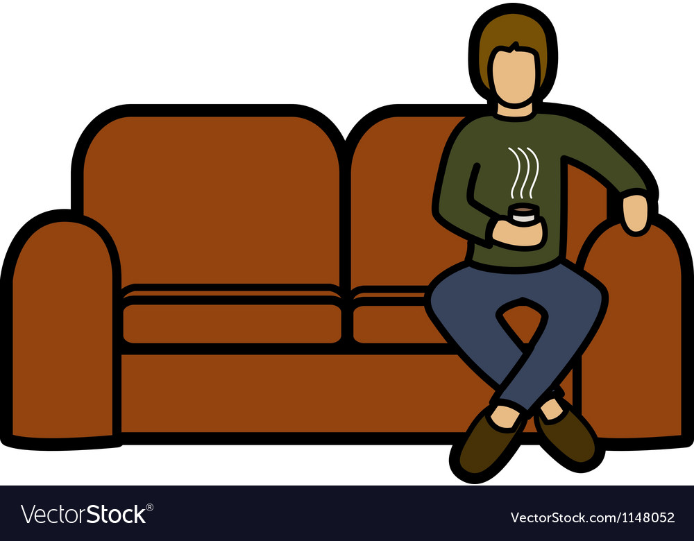 Man on a sofa vector | Price: 1 Credit (USD $1)