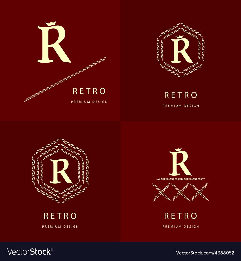 Monogram design elements graceful template vector | Price: 1 Credit (USD $1)