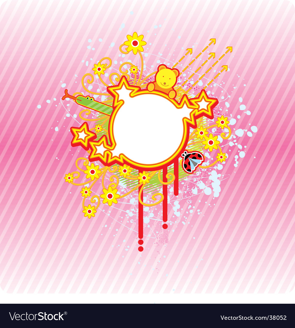 Spring circle frame vector | Price: 1 Credit (USD $1)