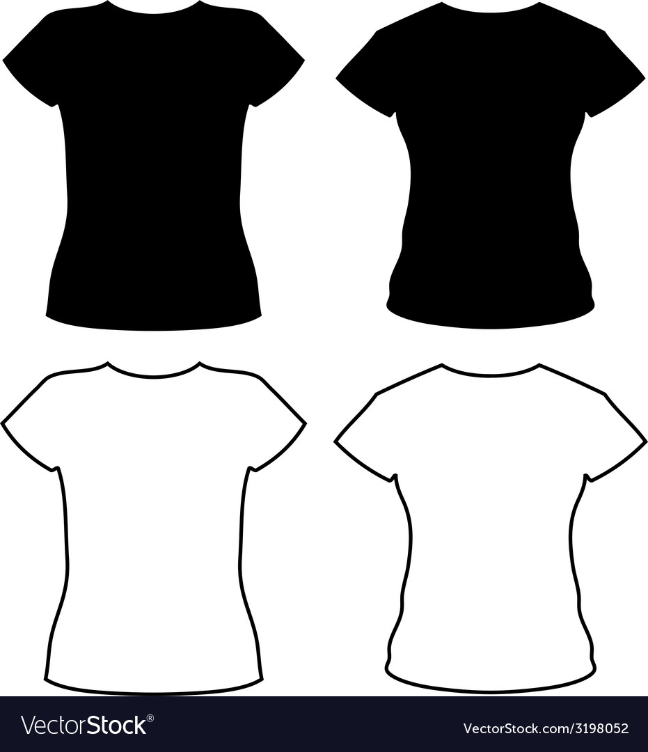T-shirt silhouettes vector | Price: 1 Credit (USD $1)