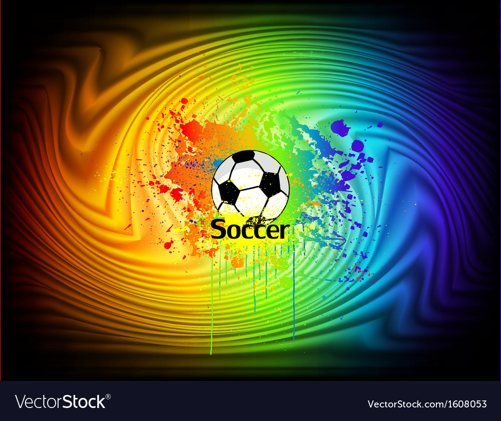 Abstract ink background with soccer ball vector | Price: 1 Credit (USD $1)