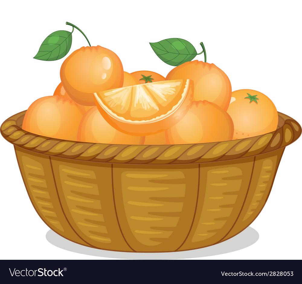 Basket of oranges vector | Price: 1 Credit (USD $1)
