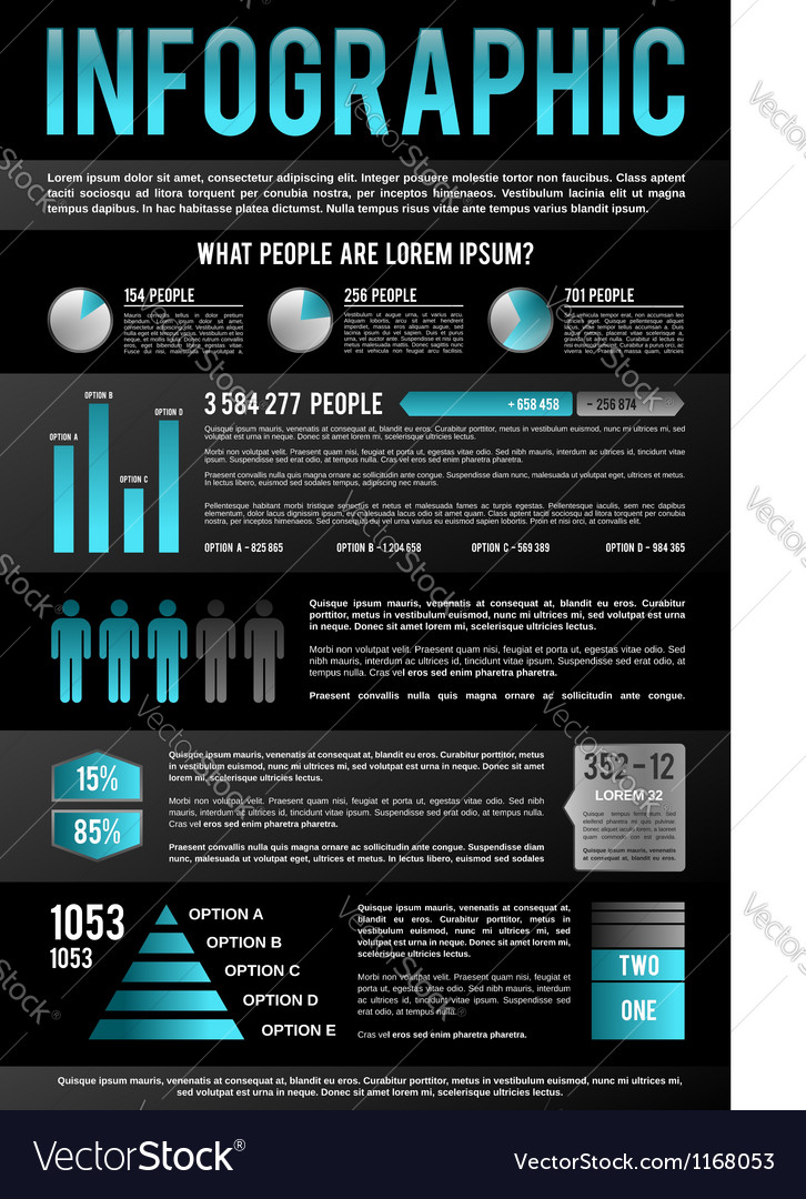 Black infographic template vector | Price: 3 Credit (USD $3)