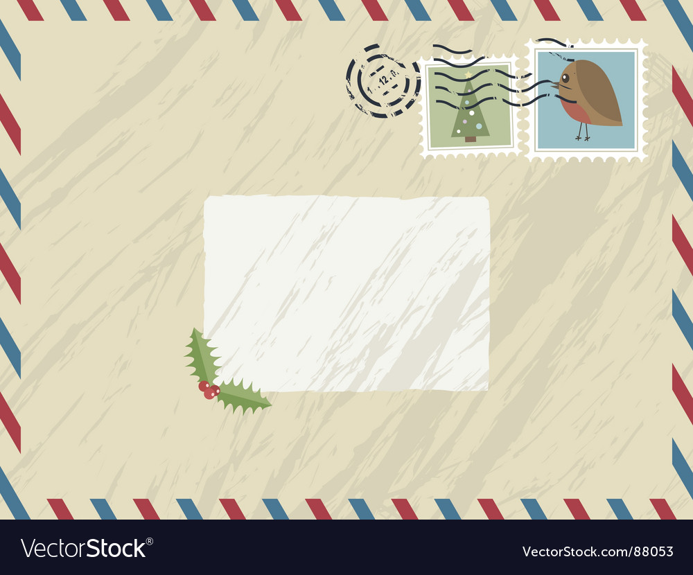 Christmas airmail vector | Price: 1 Credit (USD $1)
